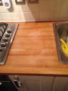 stained kitchen worktop