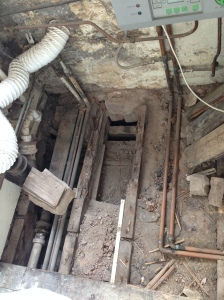 Rotten floor joists